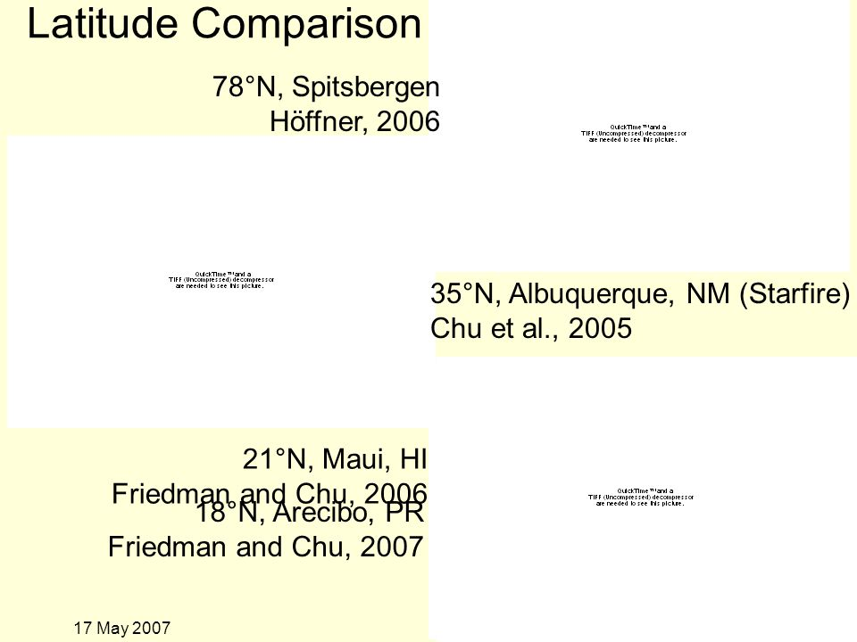 17 May 2007 Comparing specific altitudes
