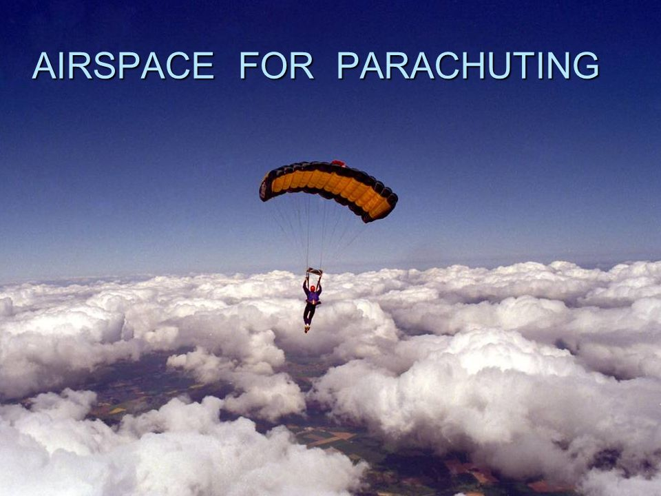 AIRSPACE FOR PARACHUTING