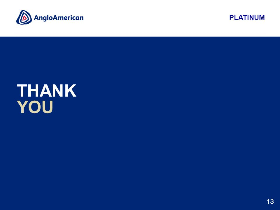 PLATINUM 13 THANK YOU
