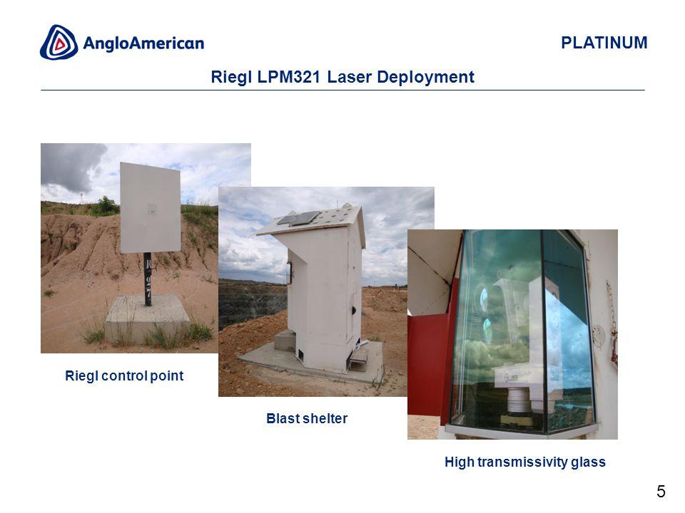PLATINUM Riegl LPM321 Laser Deployment Riegl control point Blast shelter High transmissivity glass 5