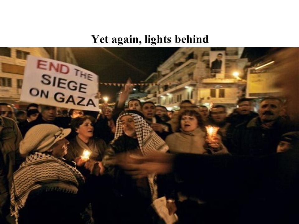 Yet again, lights behind