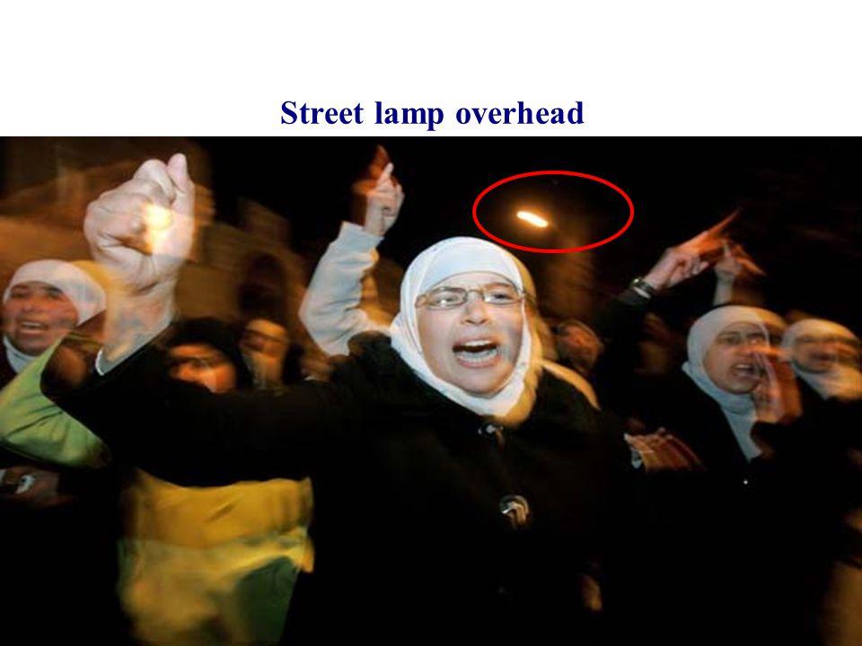 Street lamp overhead