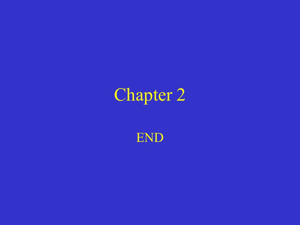 Chapter 2 END