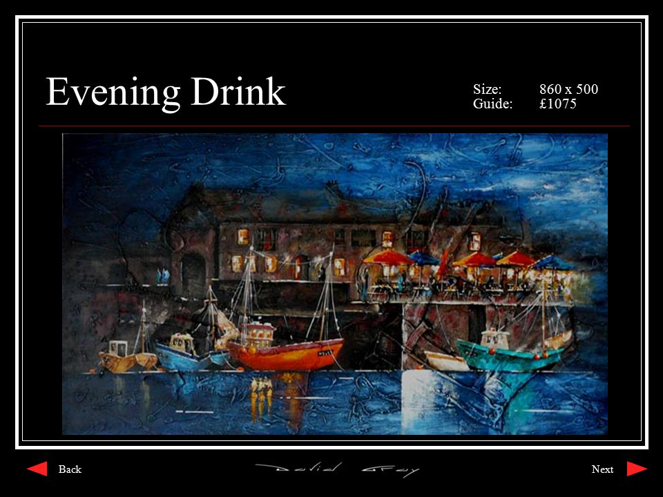 Evening Drink Size:860 x 500 Guide:£1075 NextBack