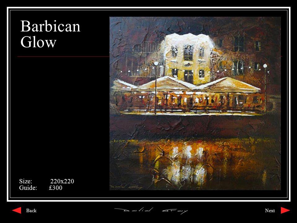 Barbican Glow Size: 220x220 Guide:£300 NextBack