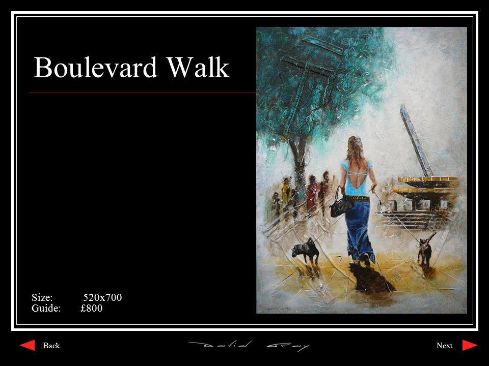 Boulevard Walk Size: 520x700 Guide:£800 NextBack
