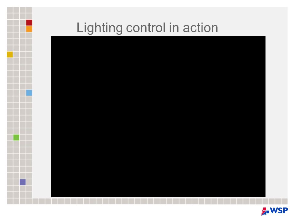Lighting control in action