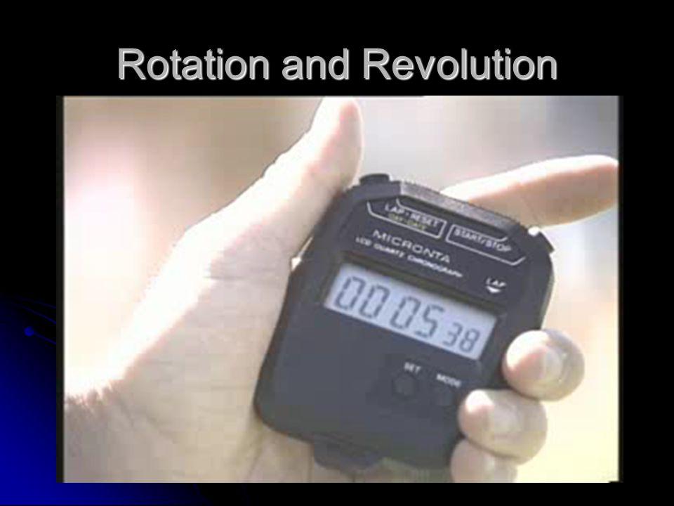 Rotation and Revolution