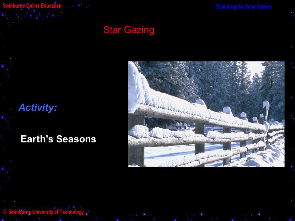 Star Gazing Activity: Earth's Seasons