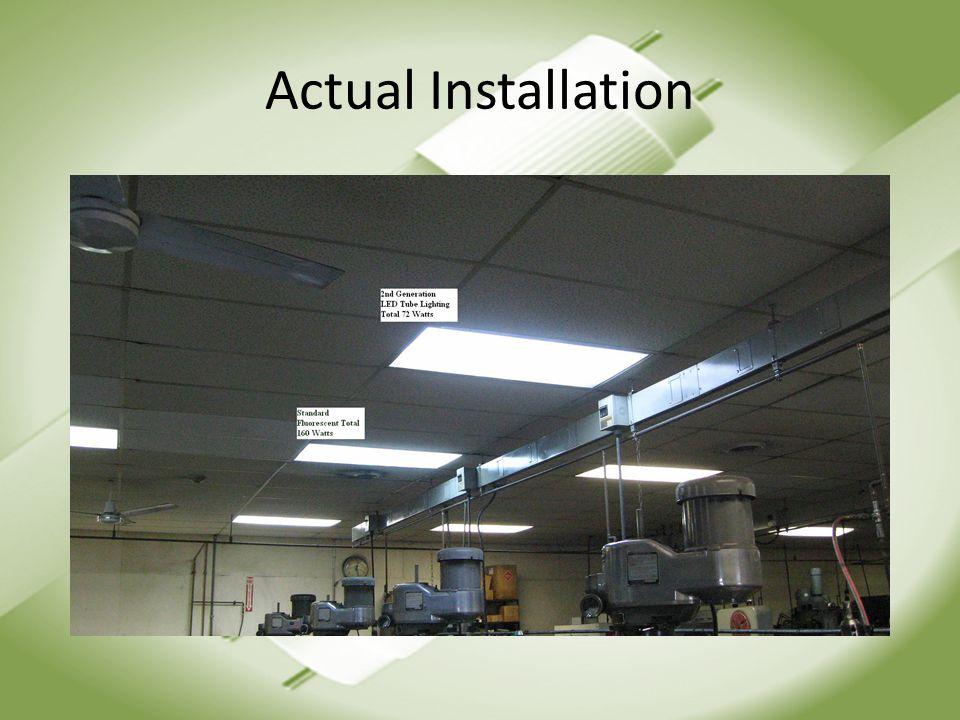 Actual Installation