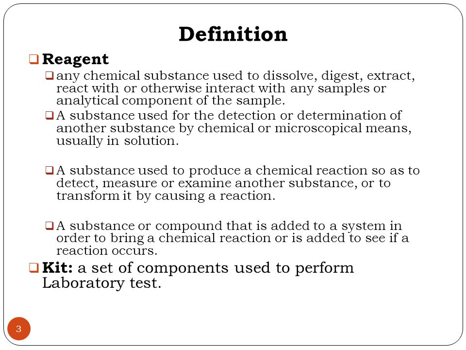 Reconstituted Reagent Labeling The reagents should be labeled with the identity of the reagent, concentration, date of preparation or expiration, and the identity of the individual preparing the reagent.