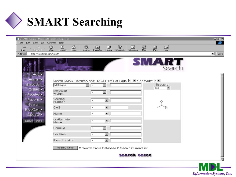 Information Systems, Inc. SMART Searching