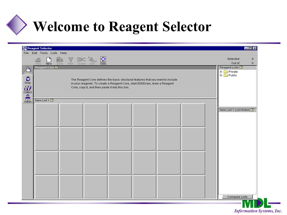 Information Systems, Inc. Welcome to Reagent Selector