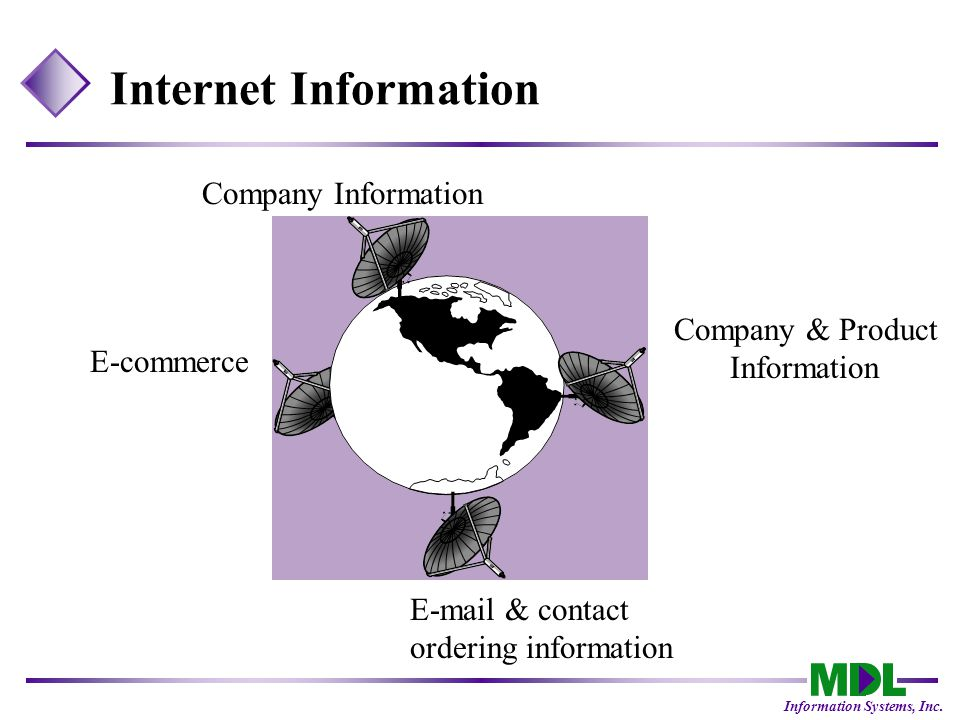 Information Systems, Inc.What does e-commerce offer.