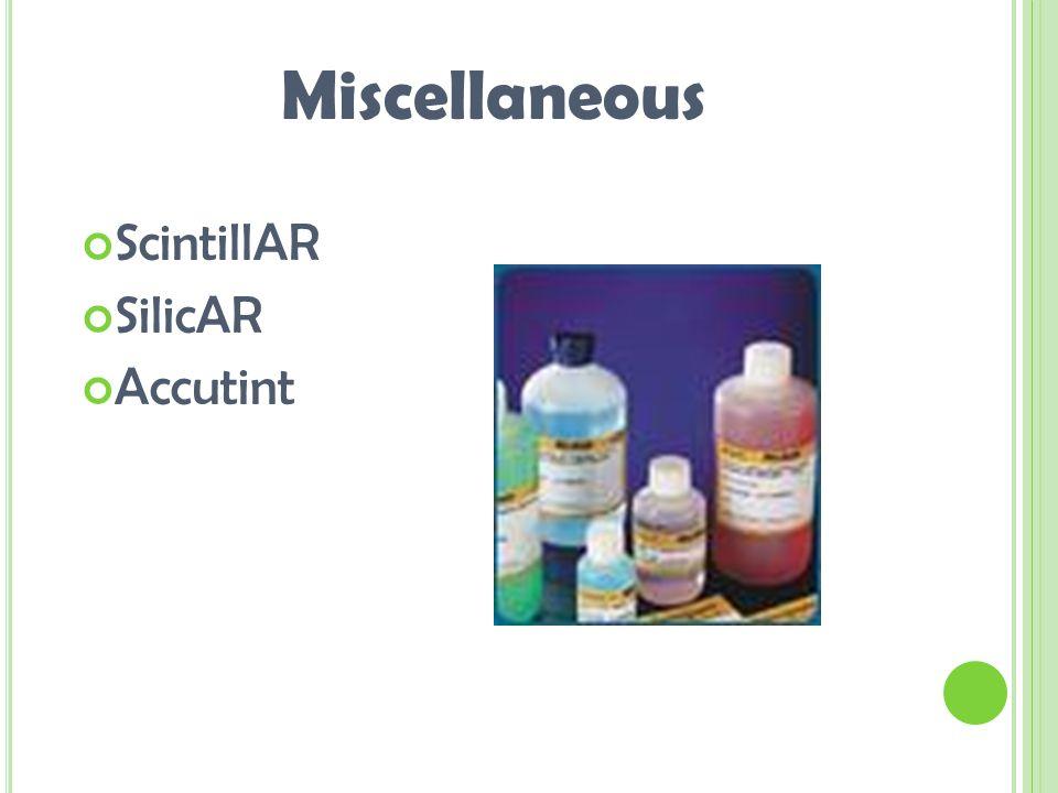 ScintillAR SilicAR Accutint Miscellaneous