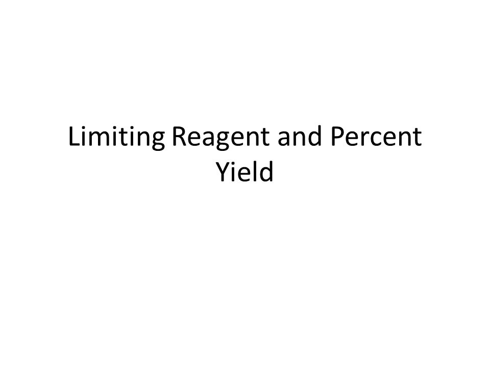 Calculating the Percent Yield of a Reaction If 15g of nitrogen reacts with 15g of hydrogen, 10.5g of ammonia is produced.