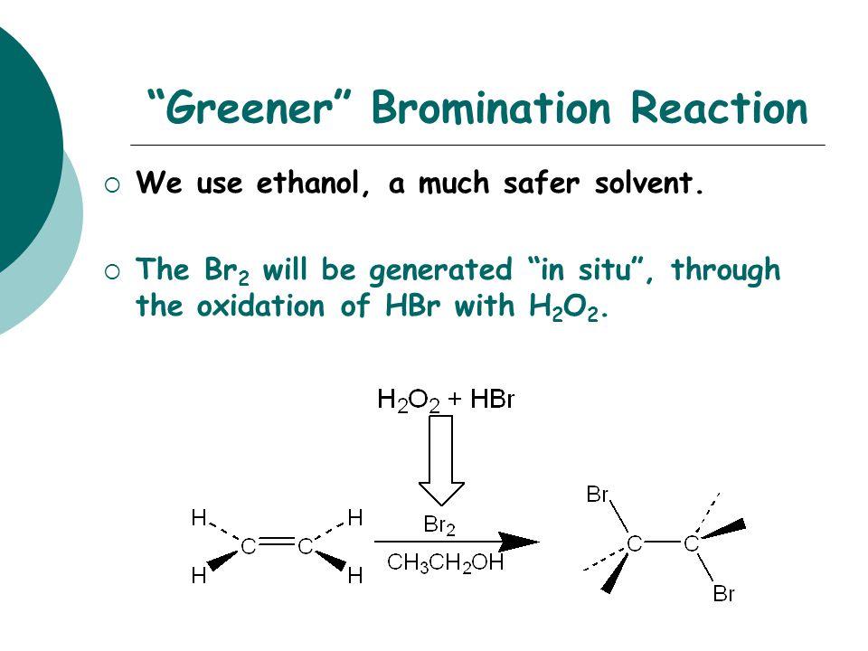 Bromination Mechanism  electrons form bond to  + bromine atom… … to form bromonium ion intermediate.