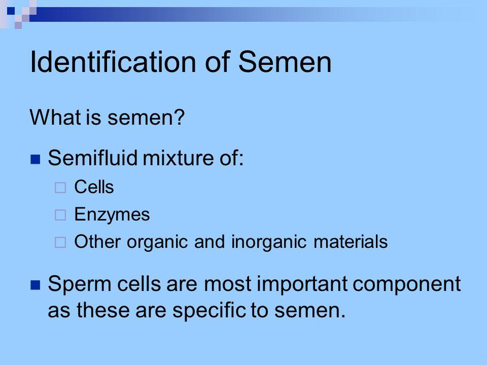Identification of Saliva What is saliva.