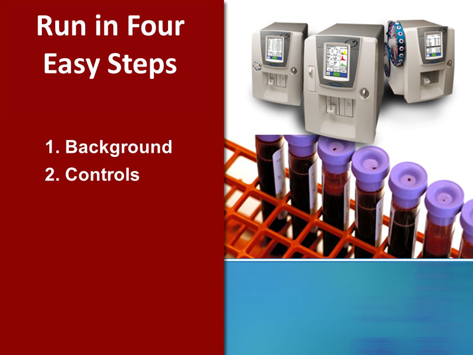 1. Background 2. Controls Run in Four Easy Steps