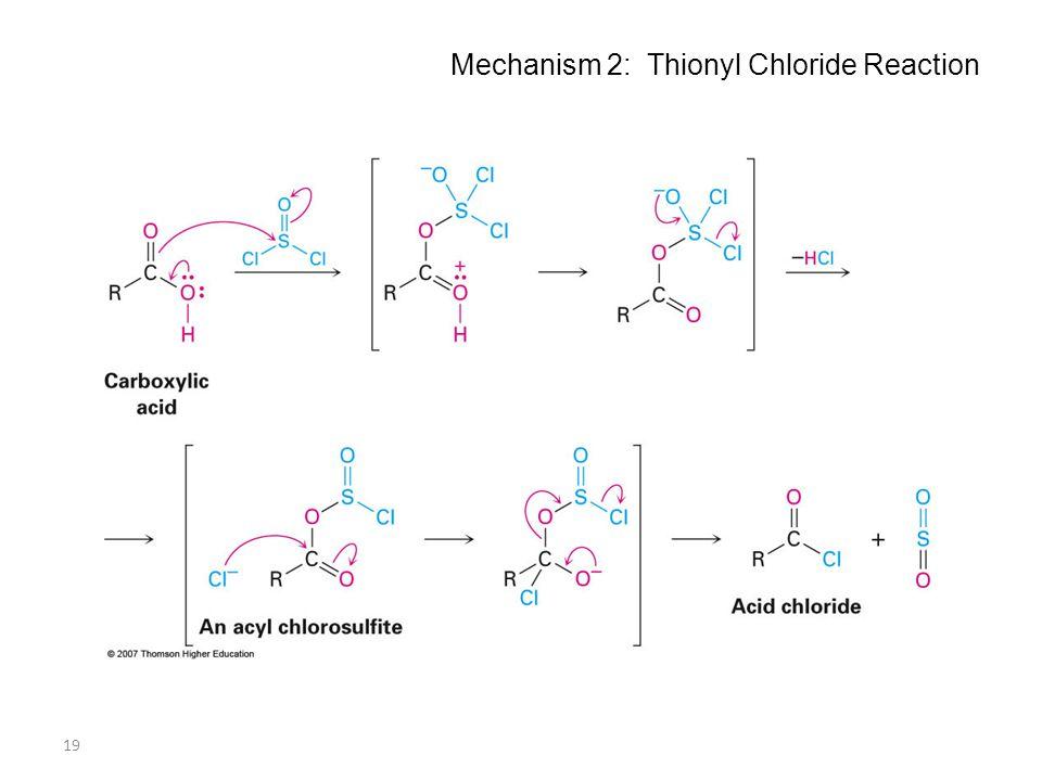 19 Mechanism 2: Thionyl Chloride Reaction