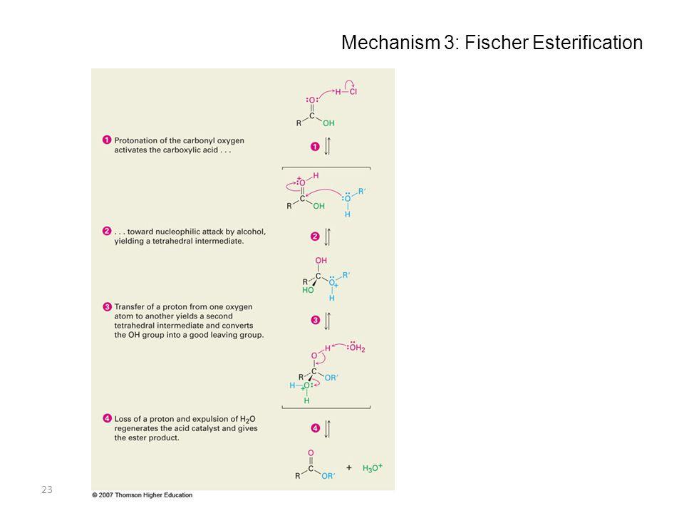 23 Mechanism 3: Fischer Esterification