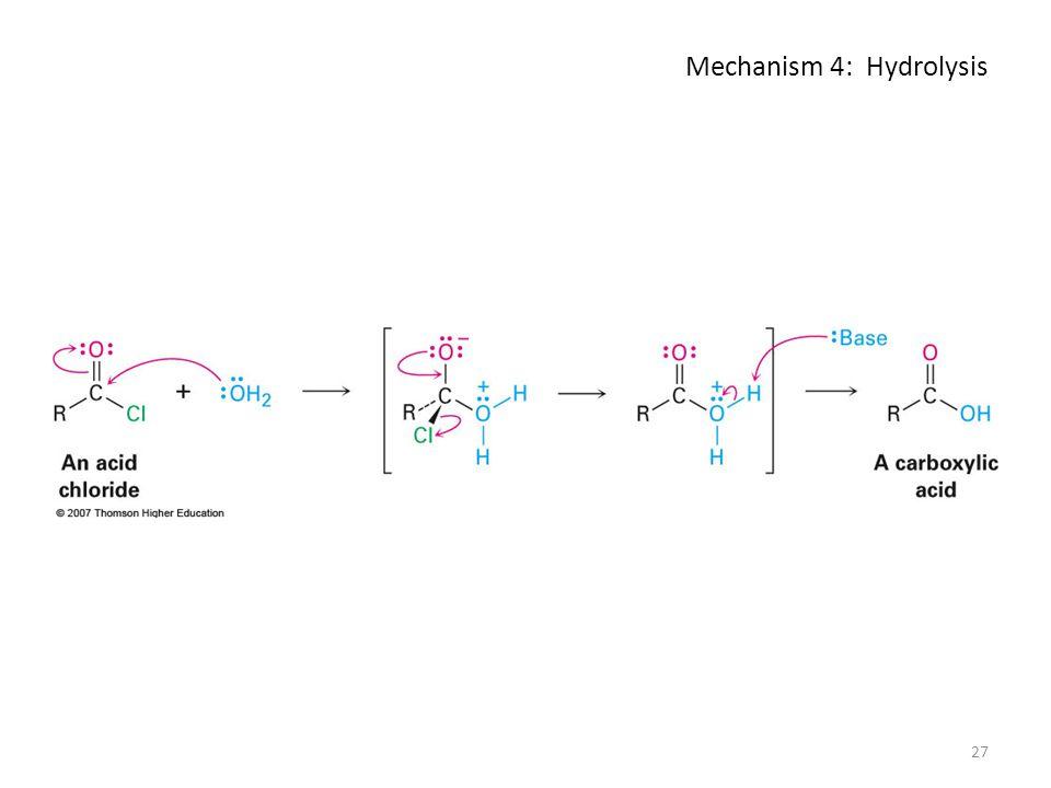 Mechanism 4: Hydrolysis 27