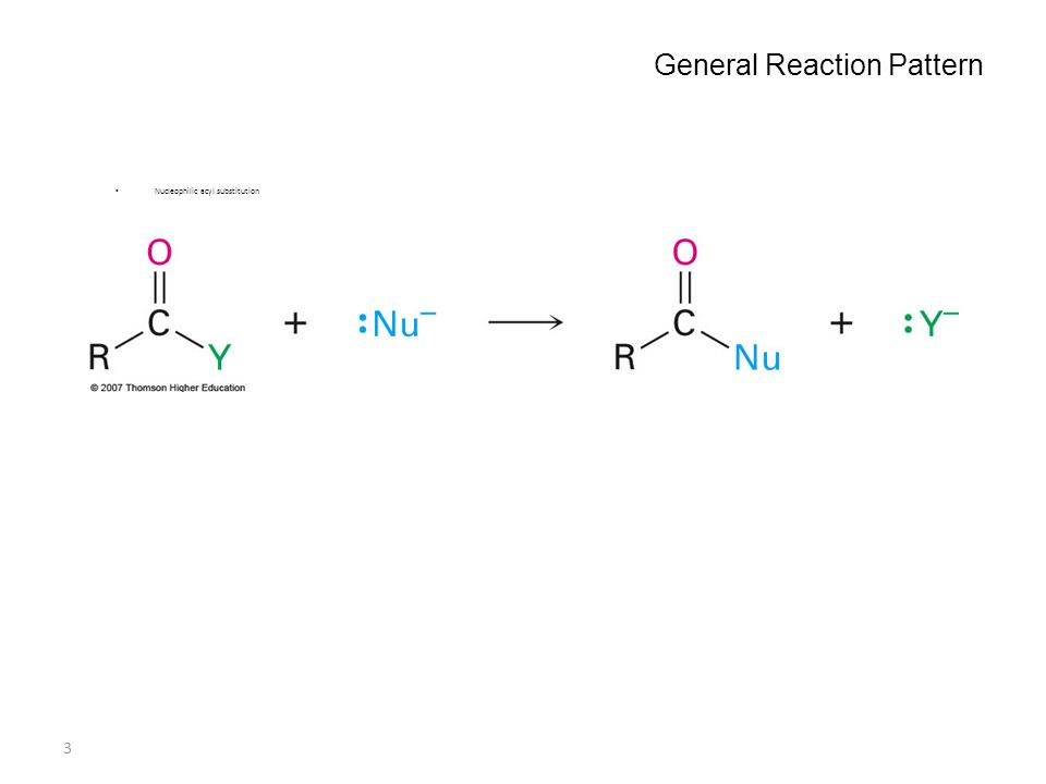 3 General Reaction Pattern Nucleophilic acyl substitution Why this Chapter? Carboxylic acids are among the most widespread of molecules. A study of th