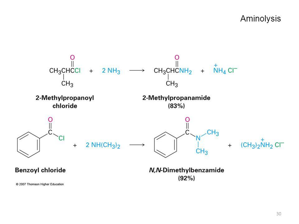 Aminolysis 30