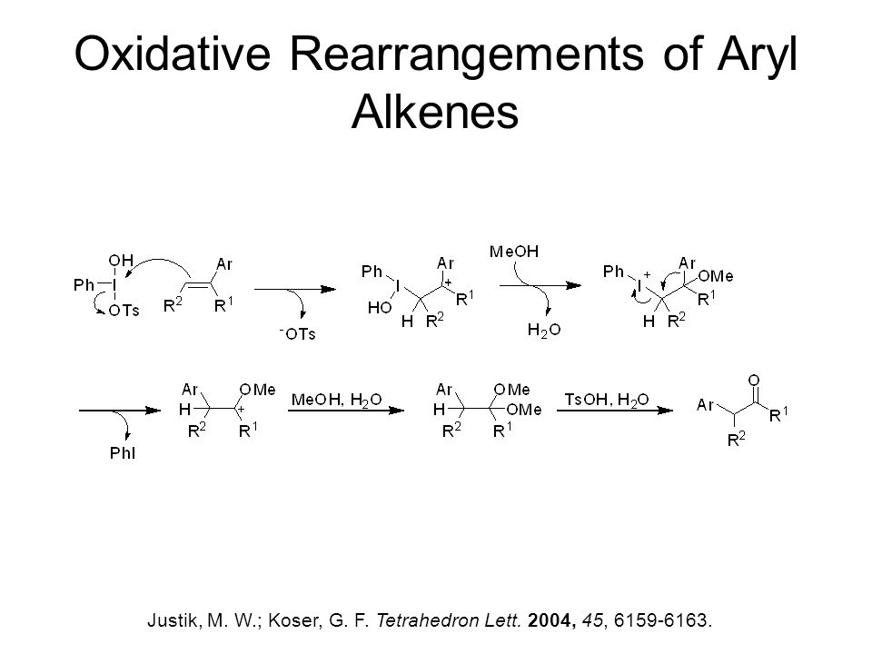 Oxidative Rearrangements of Aryl Alkenes Justik, M.