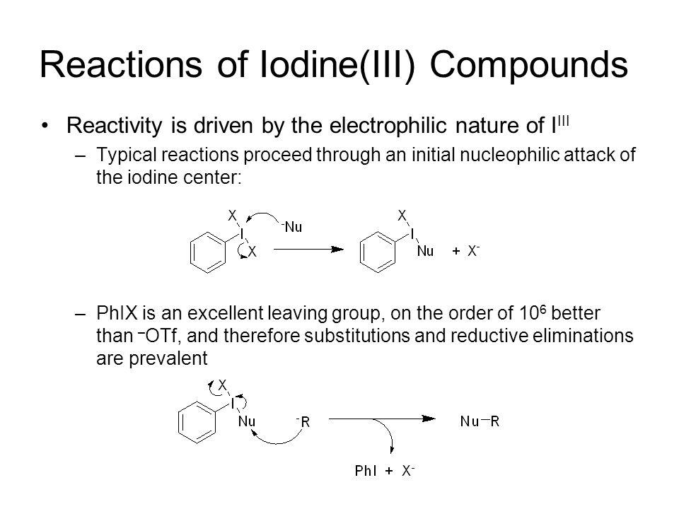 Reactions of Iodine(III) Compounds: Oxygenations