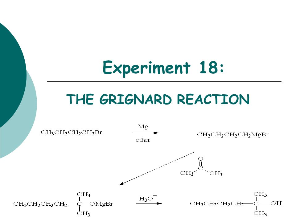 Experiment 18: THE GRIGNARD REACTION