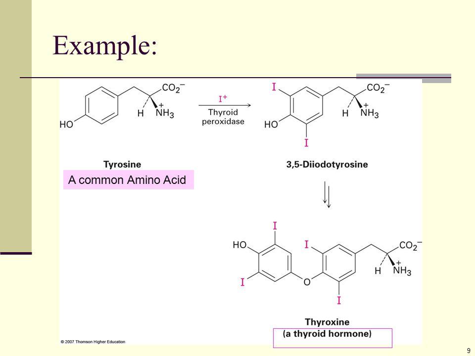 Example: 9 A common Amino Acid