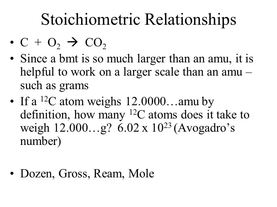 Inverted: 6.02 x 10 23 amu/g How big is Avogadro's number.