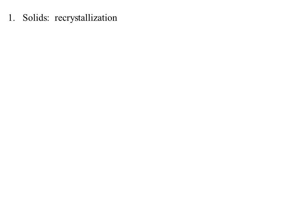 1.Solids: recrystallization