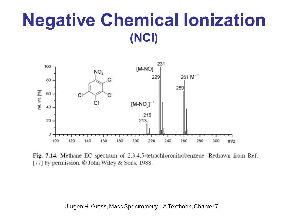 Jurgen H. Gross, Mass Spectrometry – A Textbook, Chapter 7 Negative Chemical Ionization (NCI)