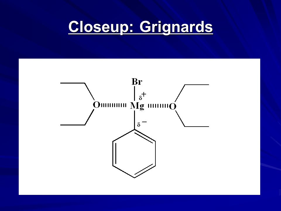 Reaction of Grignards: Today's Experiment Part 1: Formation of the Grignard Reagent