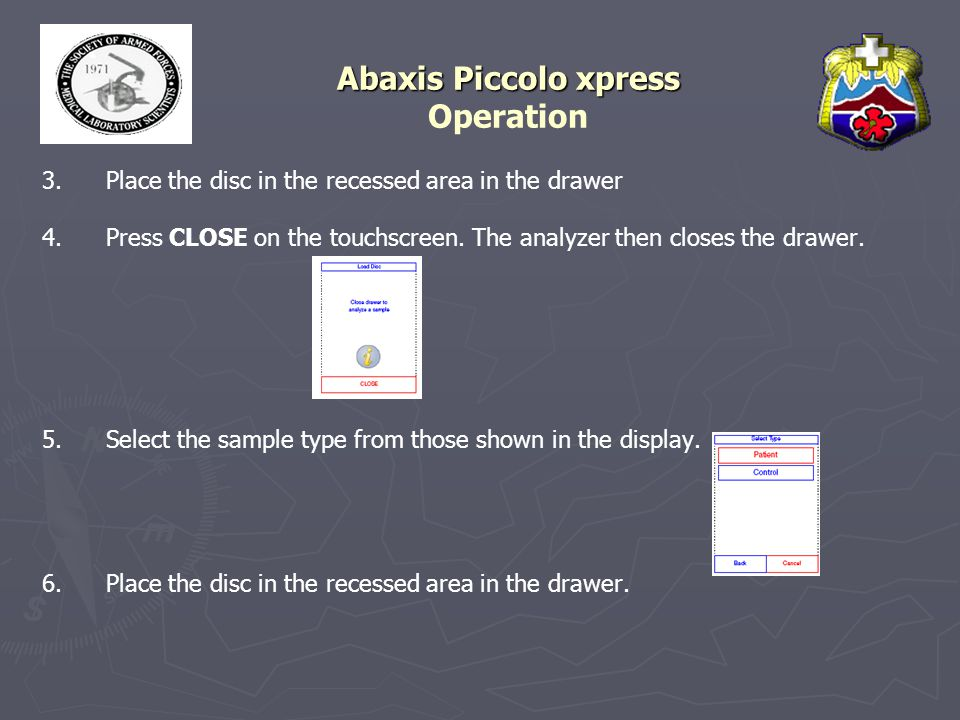 Abaxis Piccolo xpress Abaxis Piccolo xpress Maintenance & Service Cleaning the Air Filter (cont) ► ► 3.