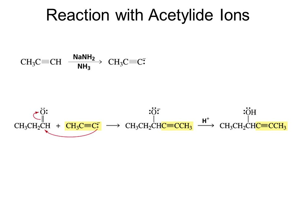 Reaction with Acetylide Ions