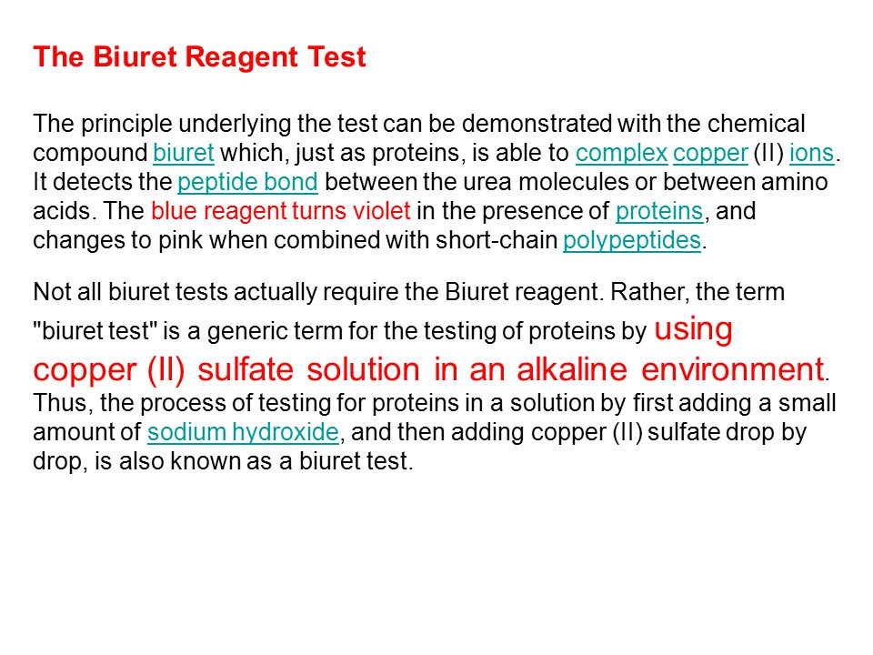 Summary Table Reagent/Subs tance Used to test for Food SubstanceControl BeforeAfterBeforeAfter Biuret reagent Protein Lugol's iodine Starch Benedict's solution Glucose BileFat Brown paperFat