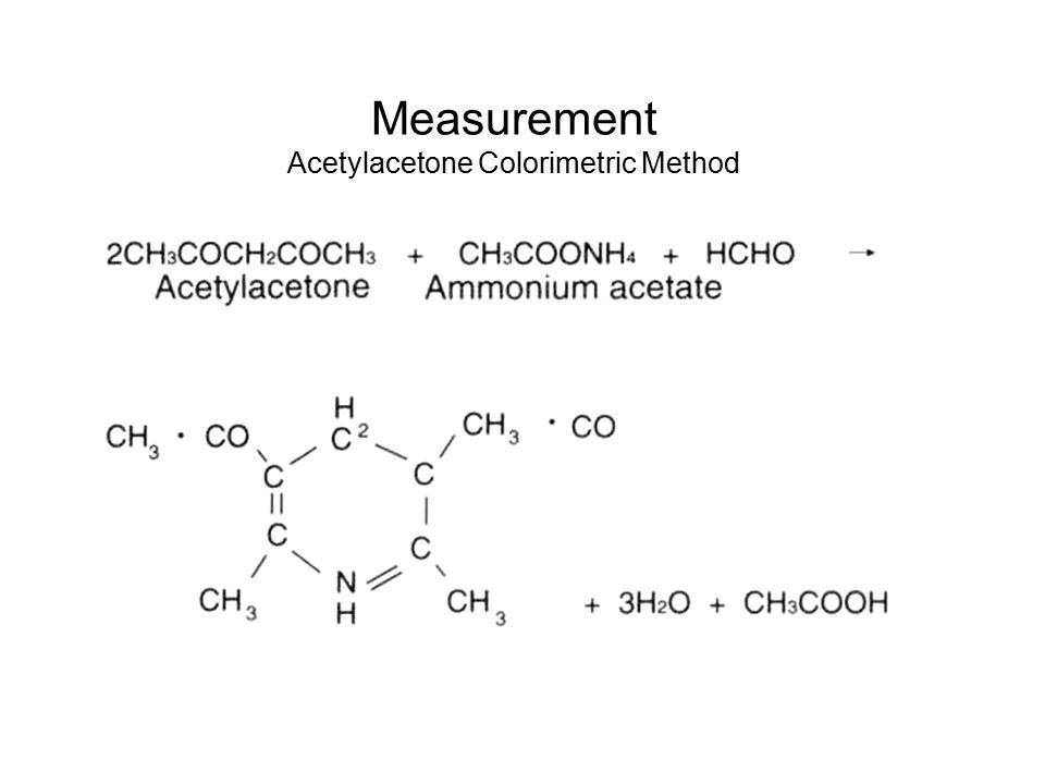 Measurement Acetylacetone Colorimetric Method A