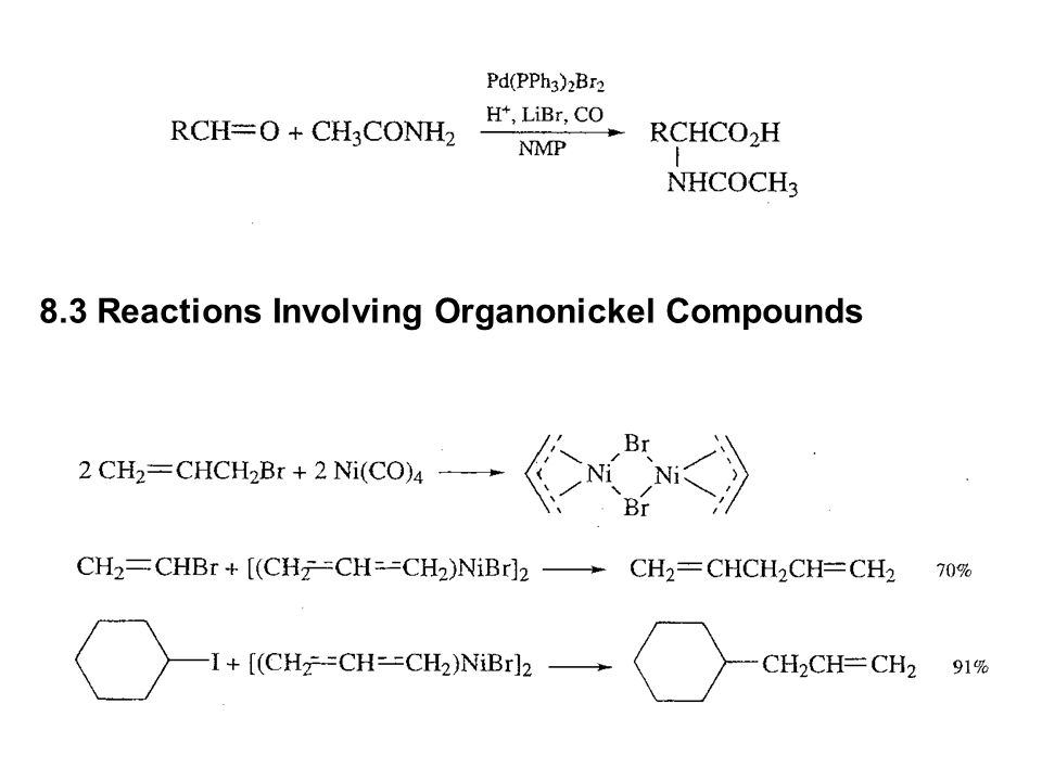 8.3 Reactions Involving Organonickel Compounds