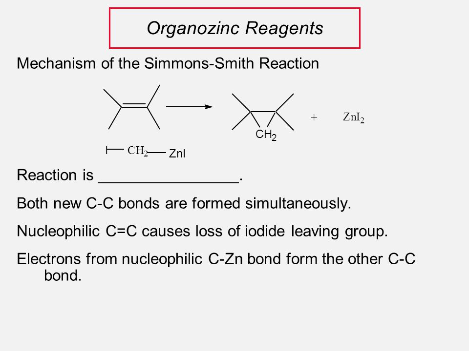 Mechanism of the Simmons-Smith Reaction Reaction is ________________.