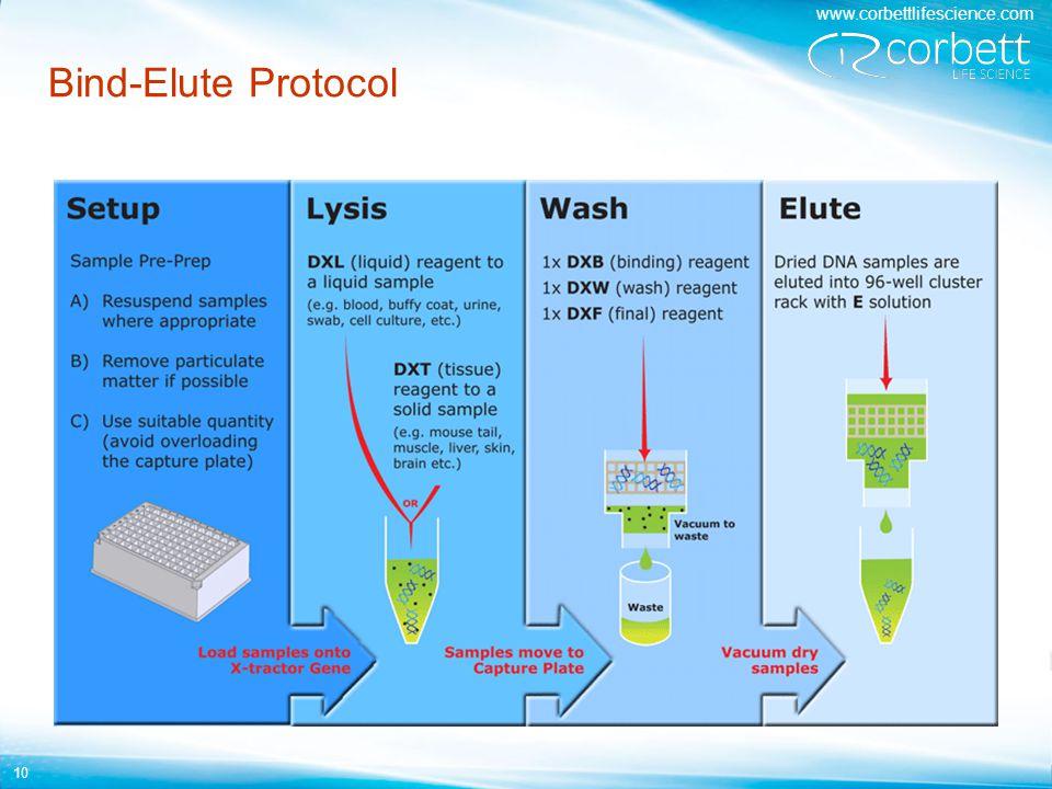 www.corbettlifescience.com 10 Bind-Elute Protocol