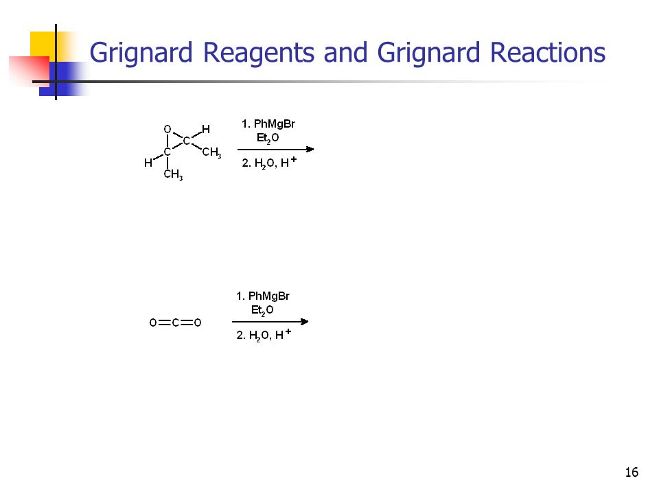 16 Grignard Reagents and Grignard Reactions