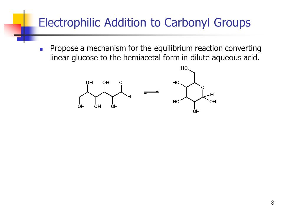 29 Nucleophilic Addition of Hydrogen Addition of hydride to a carbonyl group (reducing it to an alcohol) is also a very useful reaction.