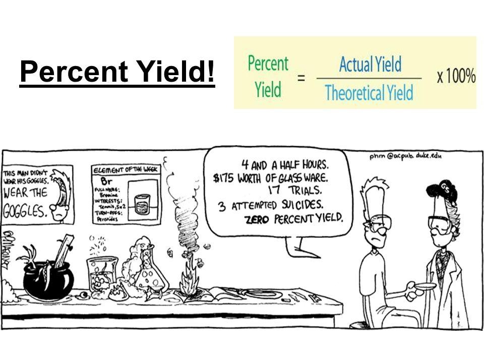 Percent Yield!