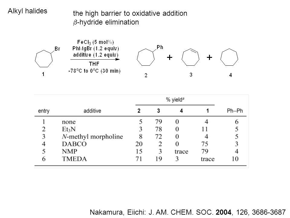 Alkyl halides Nakamura, Eiichi: J. AM. CHEM. SOC.