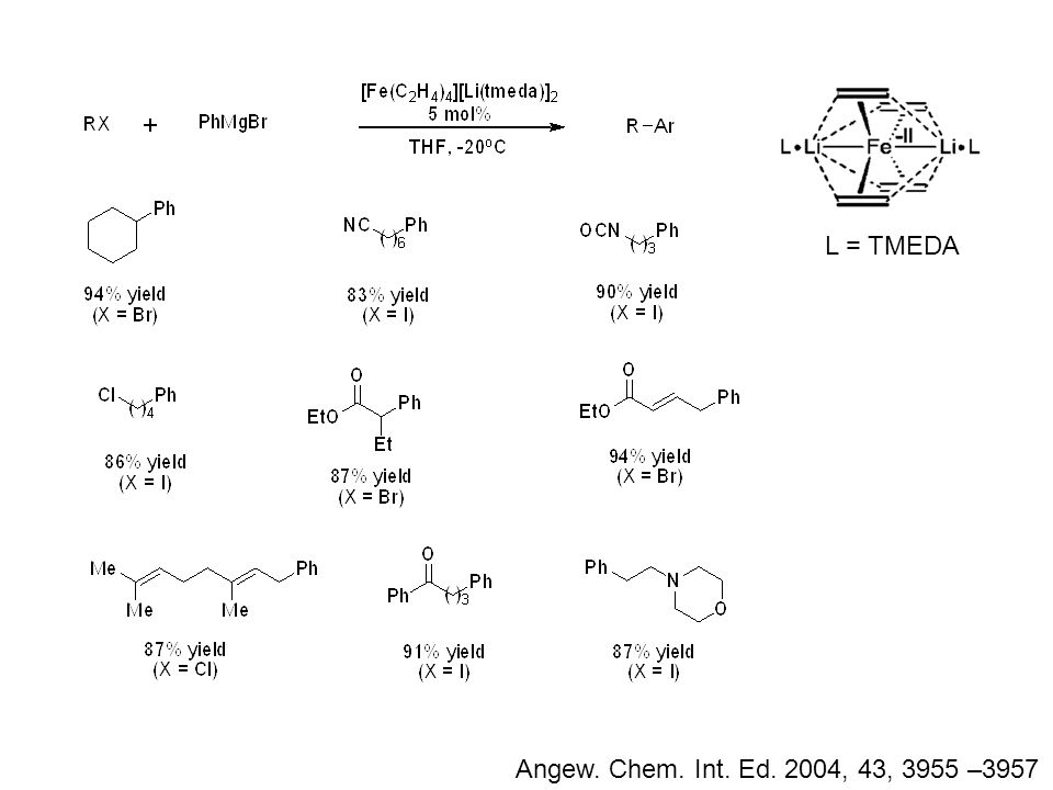 Angew. Chem. Int. Ed. 2004, 43, 3955 –3957 L = TMEDA