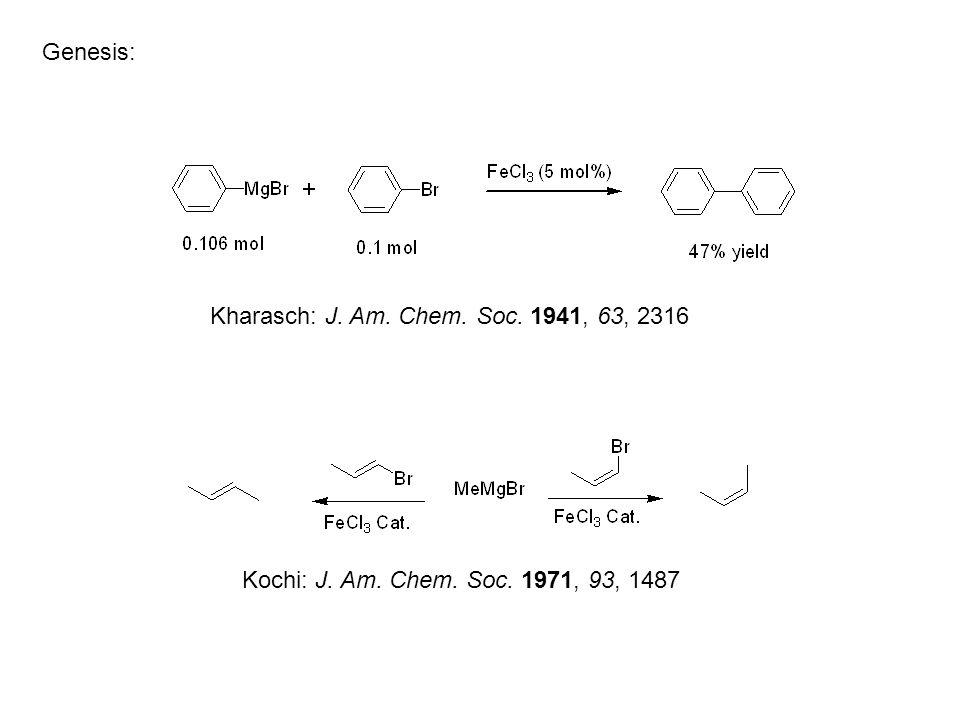 Genesis: Kochi: J. Am. Chem. Soc. 1971, 93, 1487 Kharasch: J. Am. Chem. Soc. 1941, 63, 2316