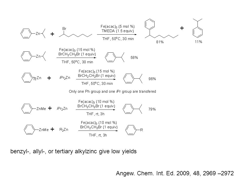 Angew. Chem. Int. Ed. 2009, 48, 2969 –2972 benzyl-, allyl-, or tertiary alkylzinc give low yields